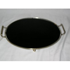 Black Glass Tray